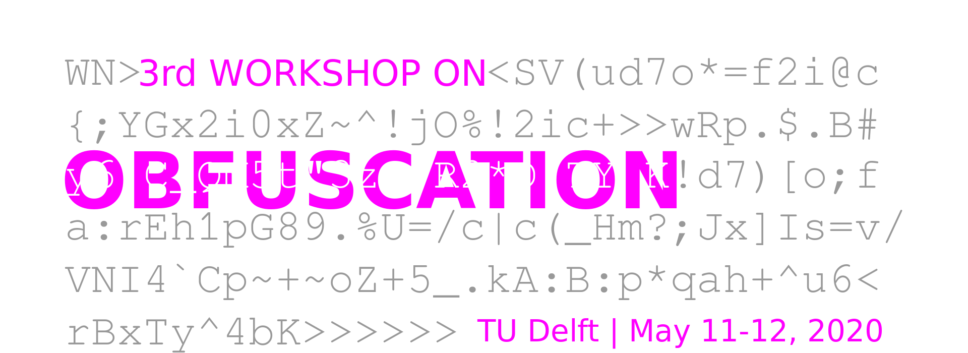 Workshop on Obfuscation
